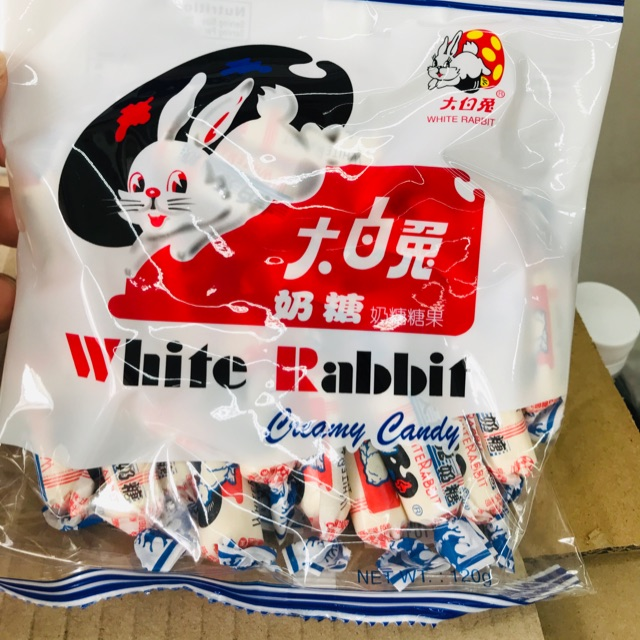 White rabbit milk candy 大白兔奶糖120g(+-20pcs )