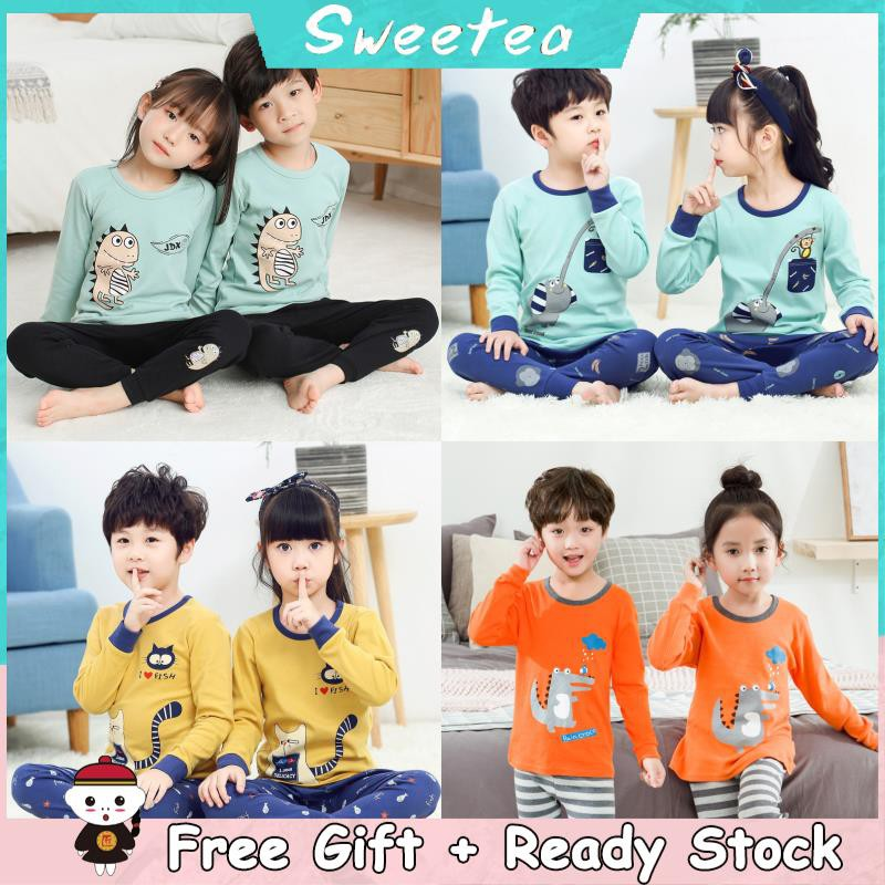5abcd8c49a3fc 💗 Free Gift💗 2pcs Kids Baby Girl Clothes Top+pants Cotton Baby Pyjamas