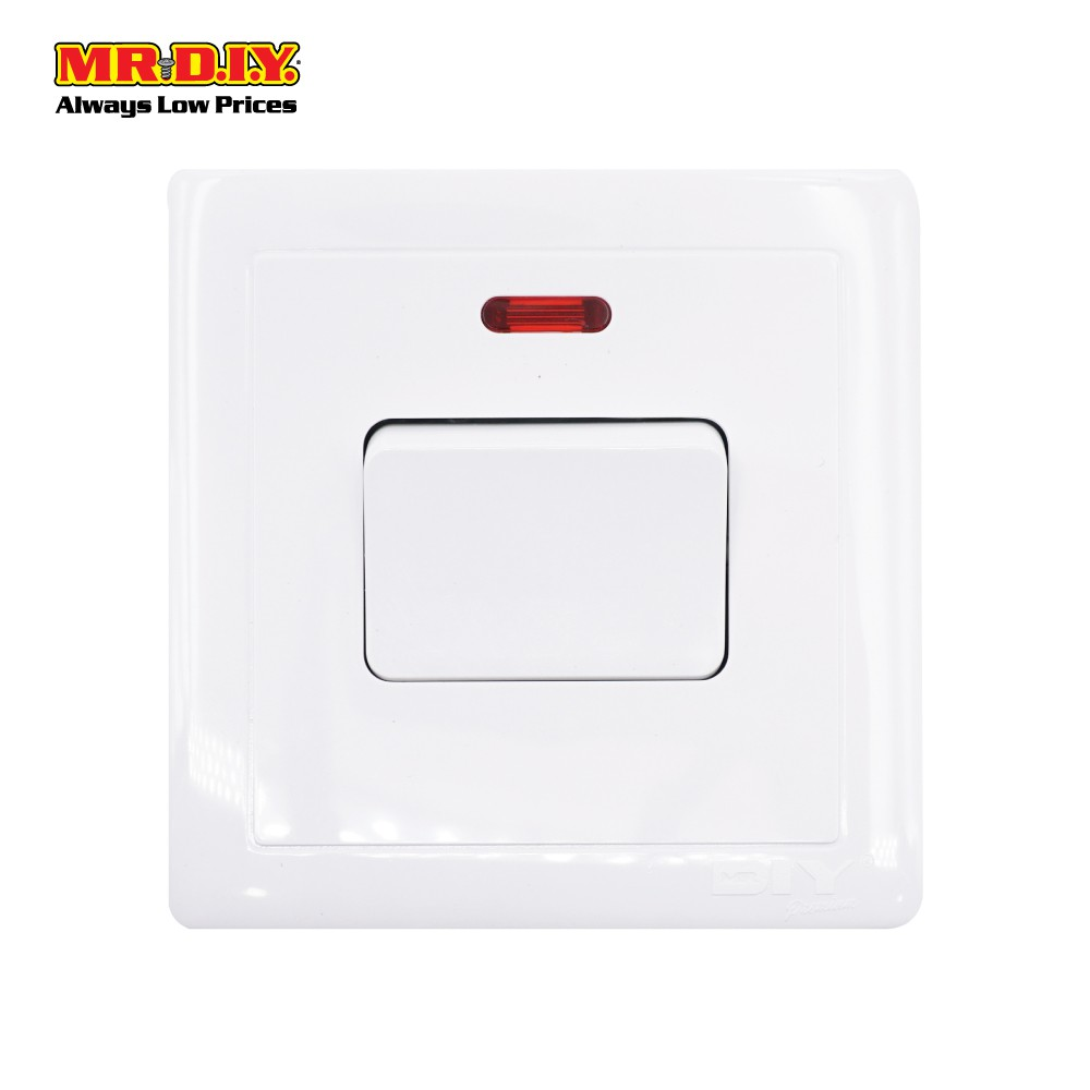 Mr Diy Premium 20a 1 Gang 1 Way Sp Switch Water Heater 9cm X 9cm Shopee Malaysia
