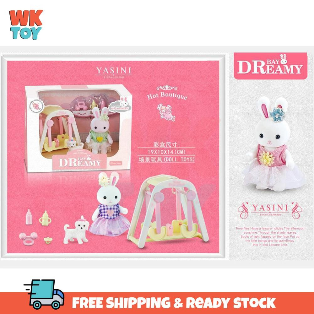 WKTOY Santomle Yasini Bay Dreamy Kaidi Rabbit Play House Kids Educational Toy Girl's Birthday Present Gift