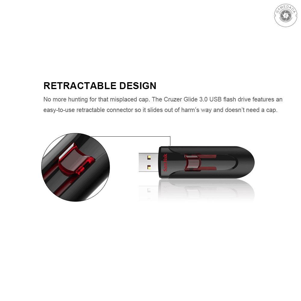 G&M SanDisk Cruzer Glide CZ600 USB Flash Drive USB 3.0 Pendrives Pen Drive Fast Speed U Disk 16GB 32GB 64GB 128GB 256G