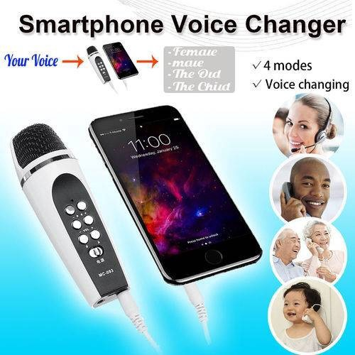 4 mode Voice Changer Microphone For iphone Apple Smartphone Cellphone  Android