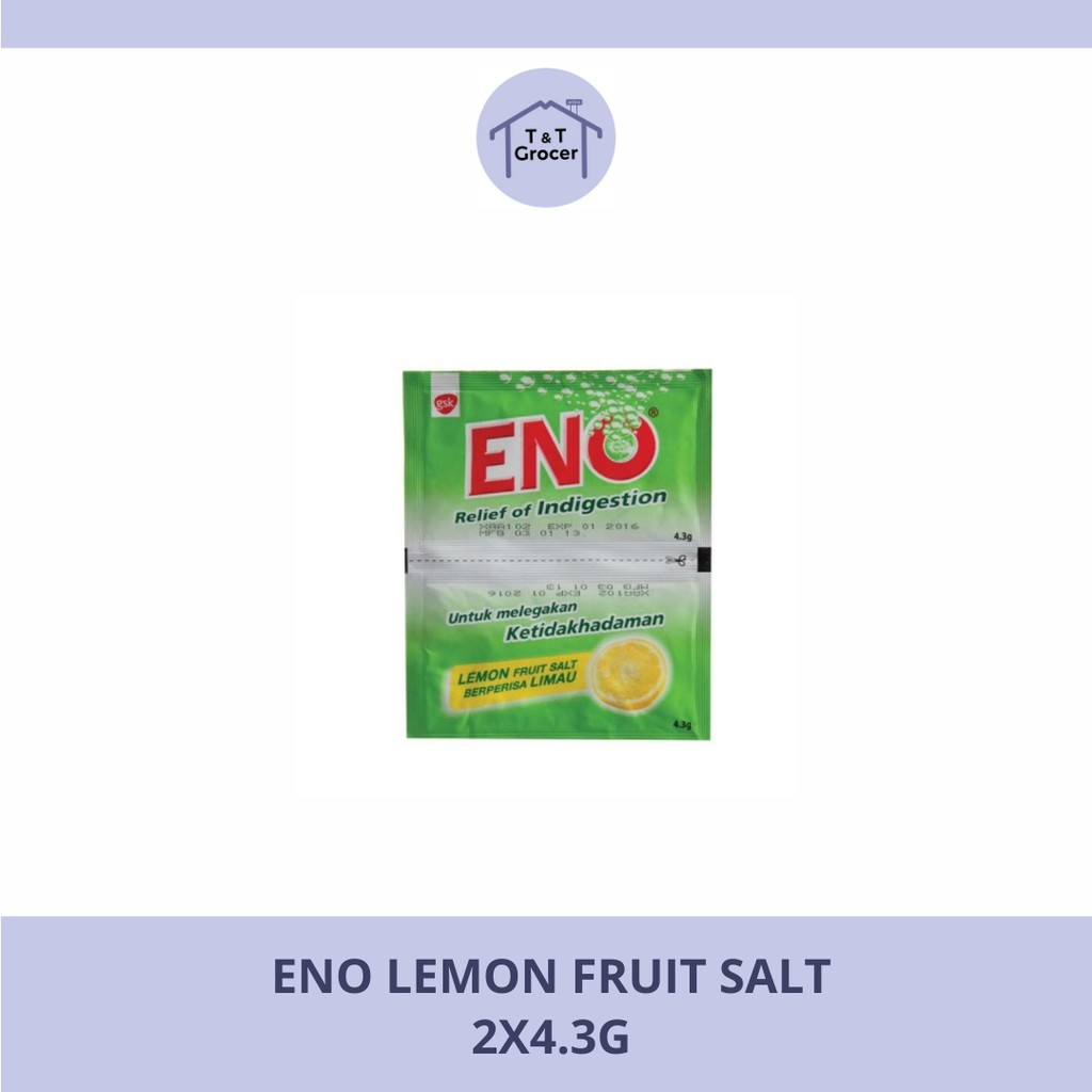 ENO 2x4.3g (Fruit Salt/ Ginger Salt/ Lemon Salt)