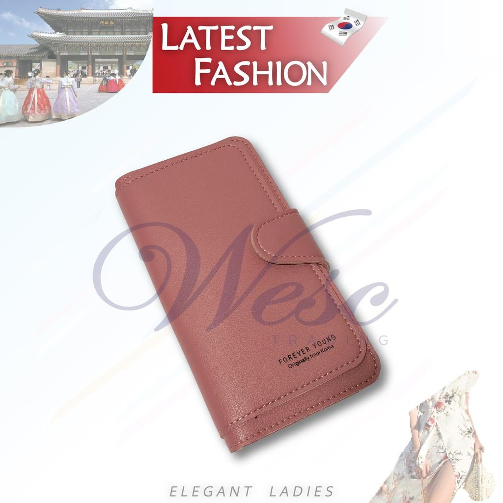 Korean Designer Fashion Latest Design Long Purse (Pink)