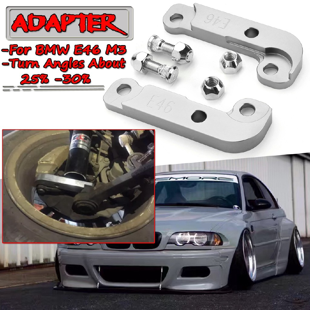 Lila Good Quality For Bmw E46 M3 About 25 30 Drift Lock Kit Adapter Increasing Turn Angles Silve Shopee Malaysia
