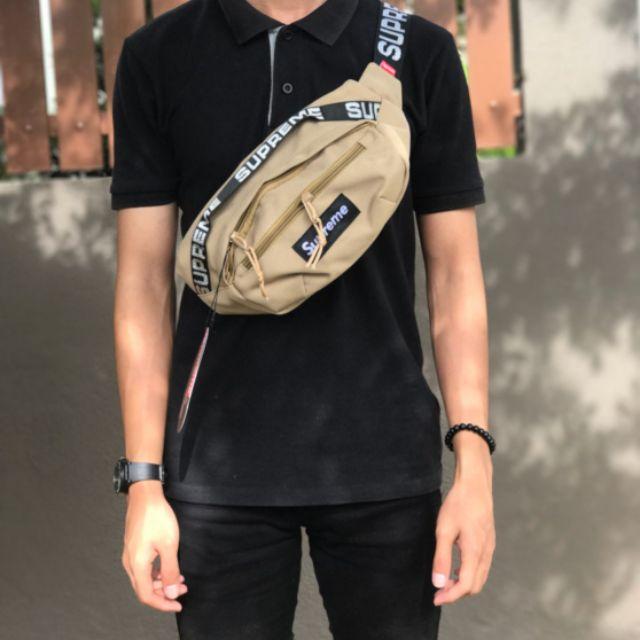 Supreme Waist Bag Ss18 Tan