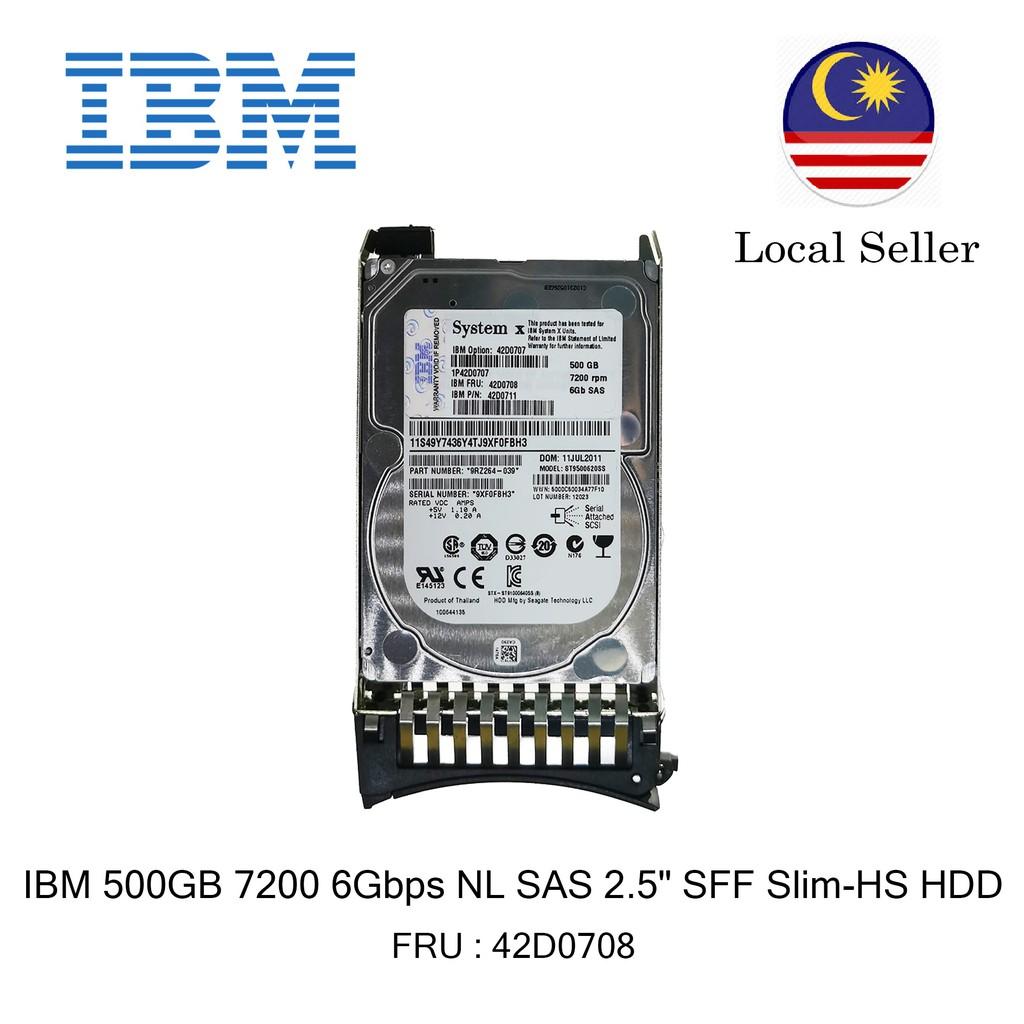 IBM 42D0711-500GB 2.5 SAS 7.2K 6Gb//s HS Hard Drive