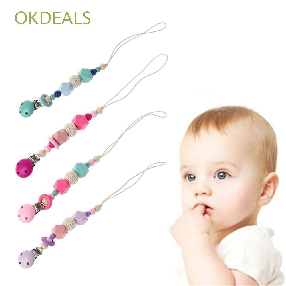 Yarn ball Wooden Star Anise Infant Newborn Product Baby Pacifier Chain
