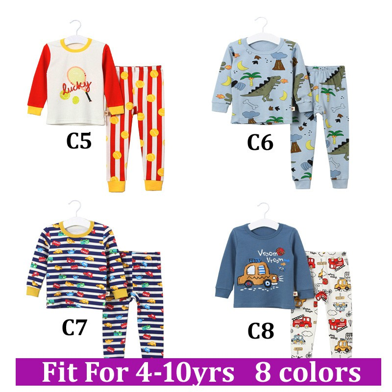 Kids Pajama Sets Boys Cartoon Pajamas Children Clothes Cotton Sleepwear Children S Pajamas Over 6 Years Shopee Malaysia