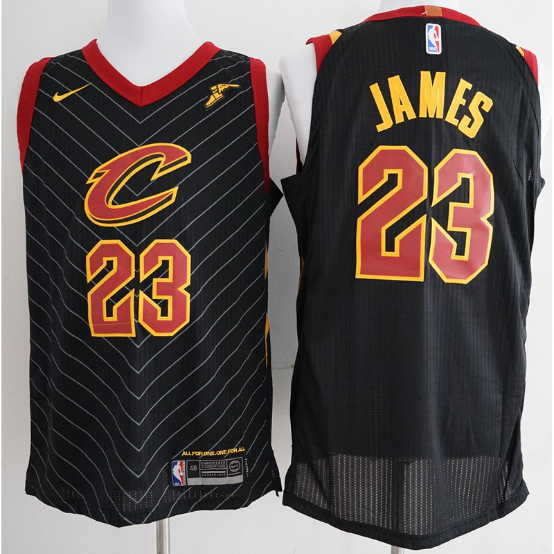 official photos e5bbf fed35 NBA Cleveland Cavaliers LeBron James #23 black basketball jersey S-XXL