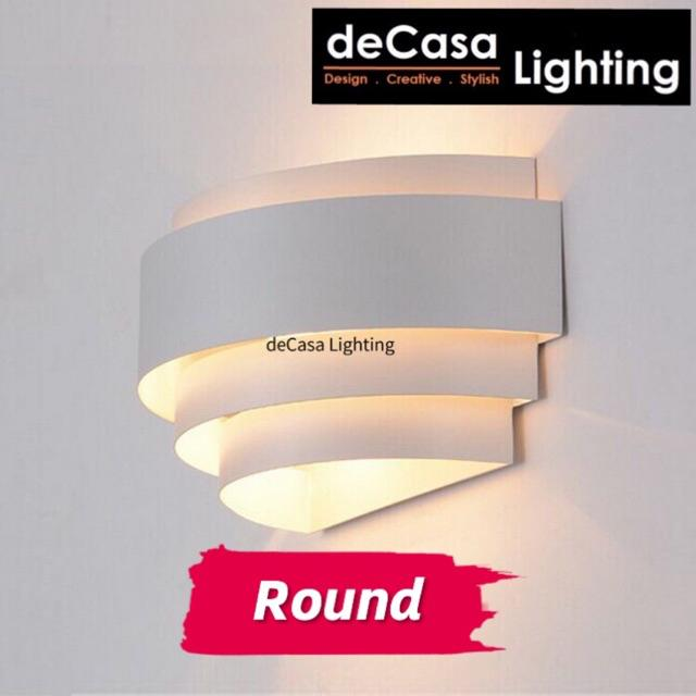 DECASA LIGHTING Set With 7w Led Bulb Modern Wall Light Indoor Decorative Wall Lamp Bedroom Bedside Lighting (JCX0012)