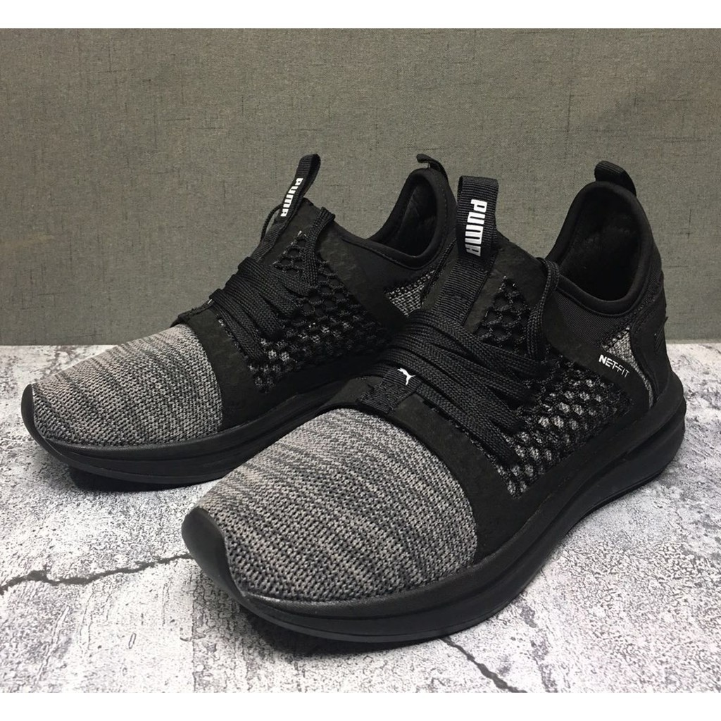 hot sale online d1a64 e1adb [Nelly]100%Original Puma Ignite Limitless Black warrior sneakers for men  running shoes