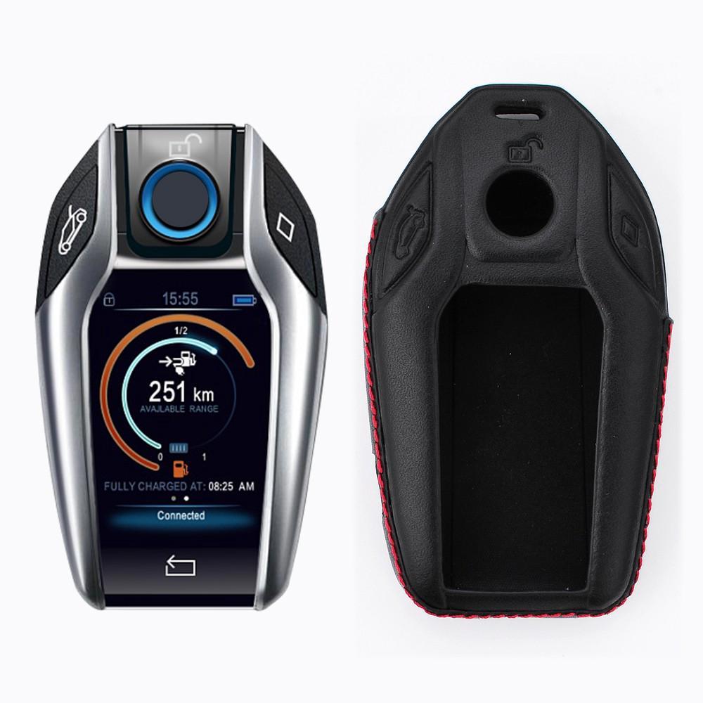 Car Key Case For Bmw Display Key 7 Series Smart Remote Keyring