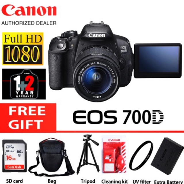 CANON EOS 700D (18-55MM IS STM)(3 YEARS WARRANTY)