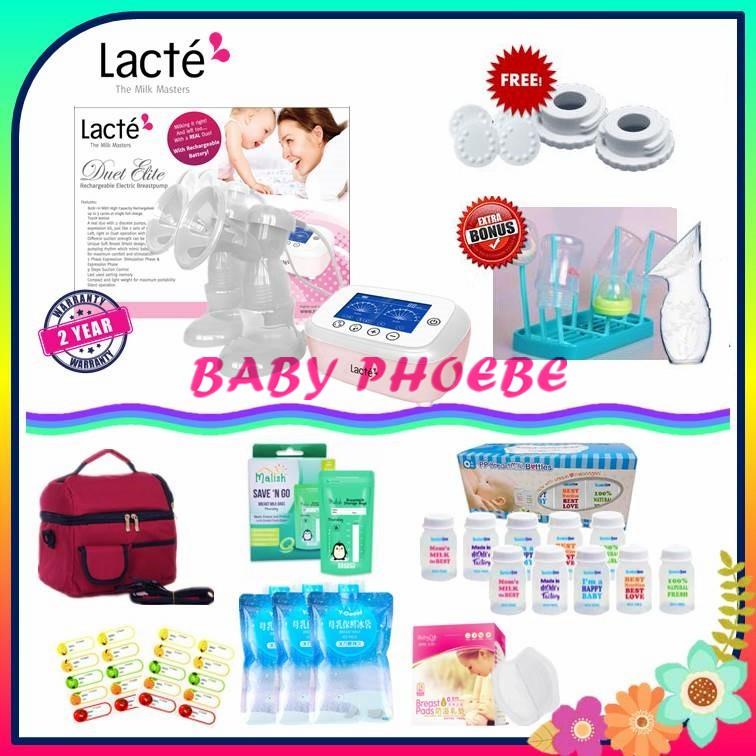 Lacte Duet Elite Rechargeable Electric Breast Pump Package