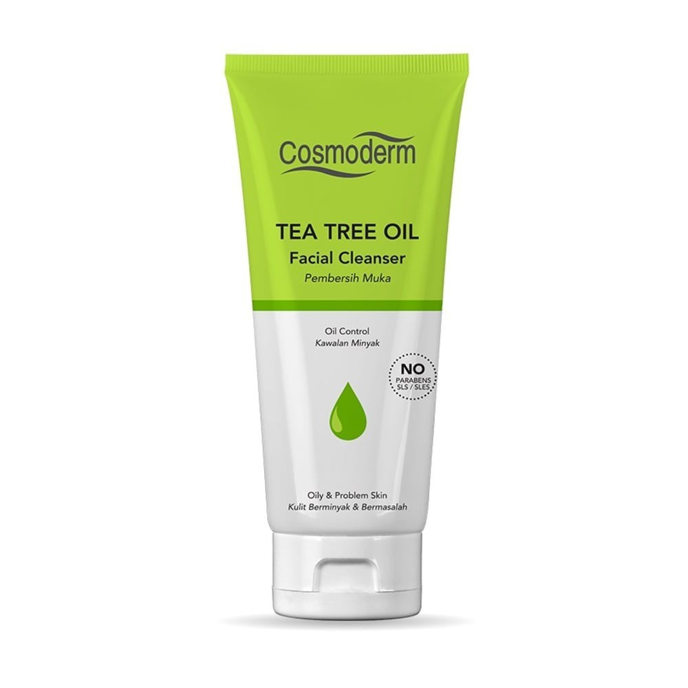 Cosmoderm Tea Tree Oil Facial Cleanser 125mL