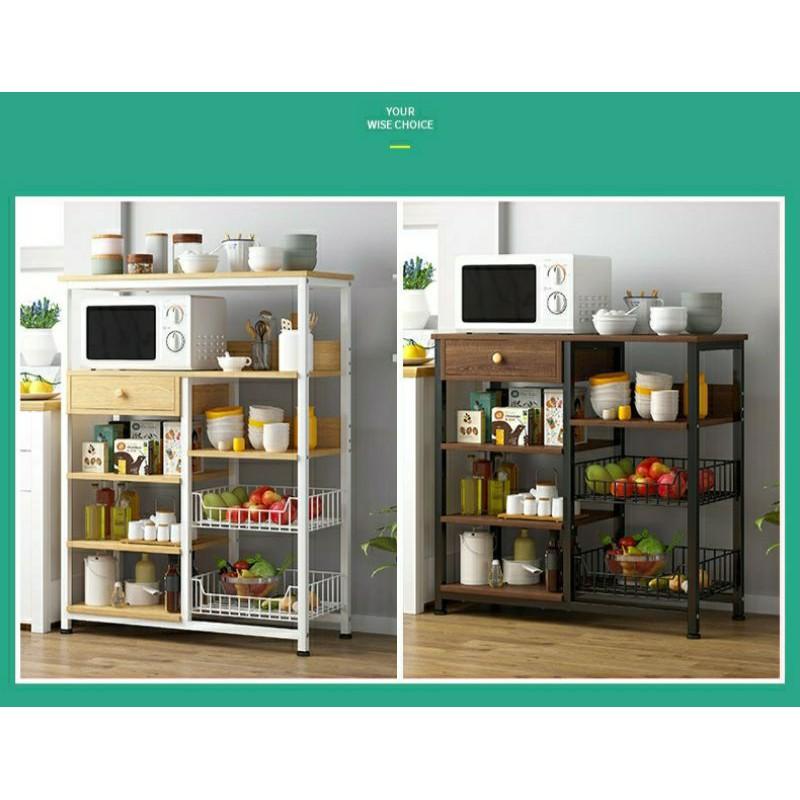 Kabinet Dapur Rak Dapur Rak Microwave Rak Pinggan Mangkuk Shopee Malaysia