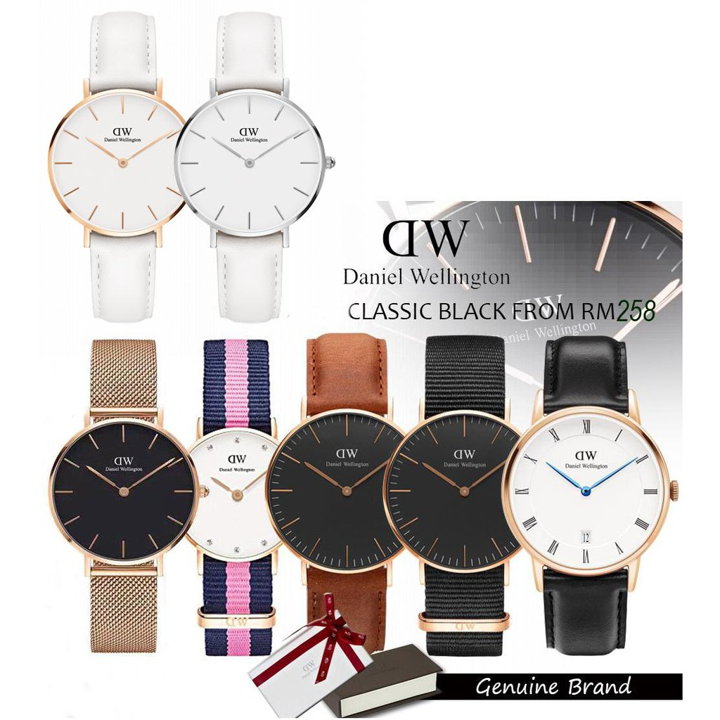 1bb658079e73 Authentic Daniel Wellington Classic Black Series 36 40mm