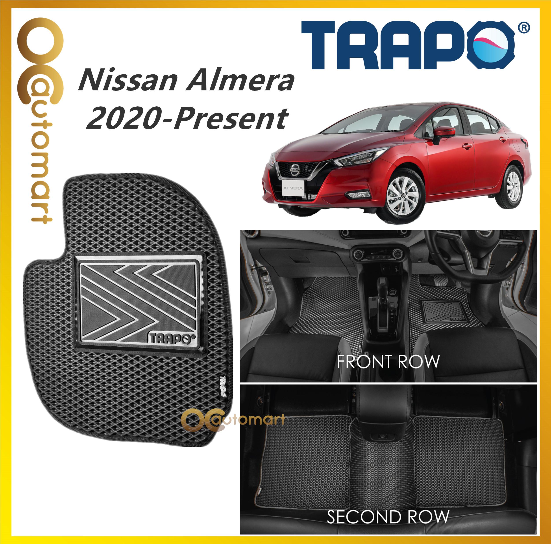 TRAPO Customize Car Floor Mat Nissan Almera 2020 - Present Black Base with Red Grey Blue Black Lining