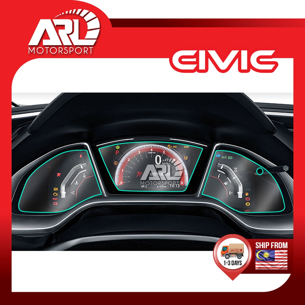 Honda Civic X (2016-2020) FC Meter Protector Film Sceen Film Protector Car Auto Acccessories ARL Motorsport