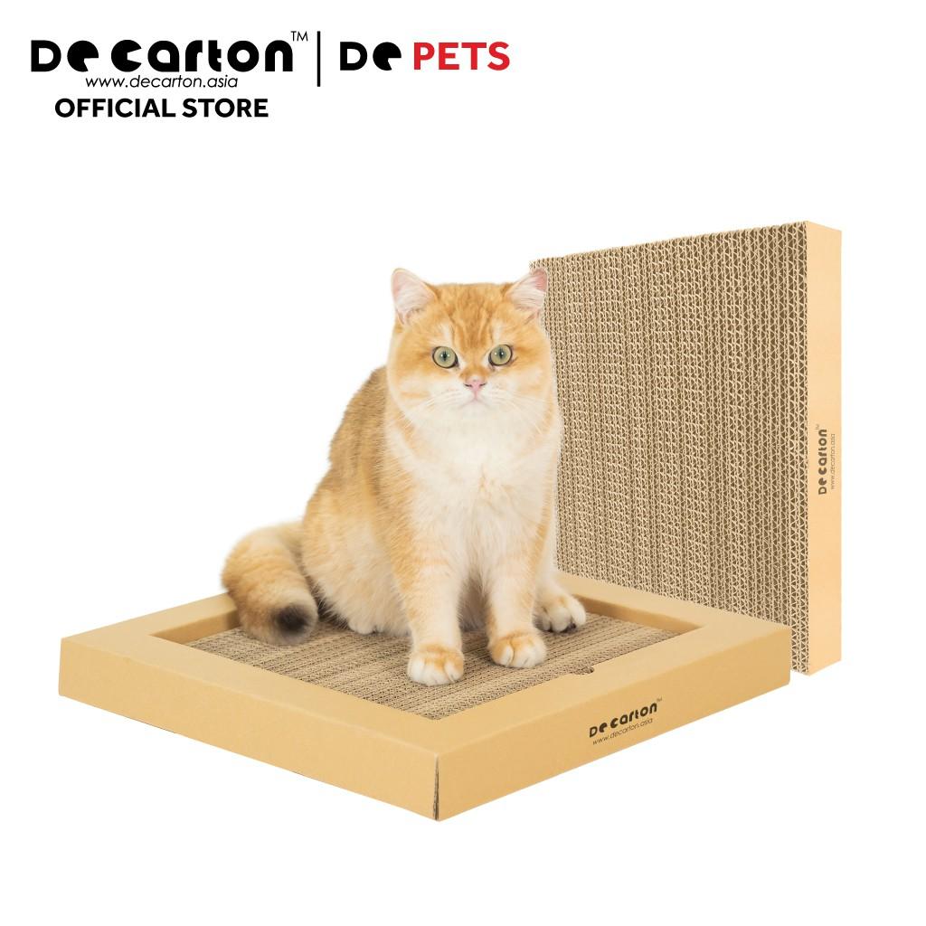 De Carton Cardboard Cat Scratch Board With Frame (De Carton Papan Calar Kucing dengan segi empat kerangka)