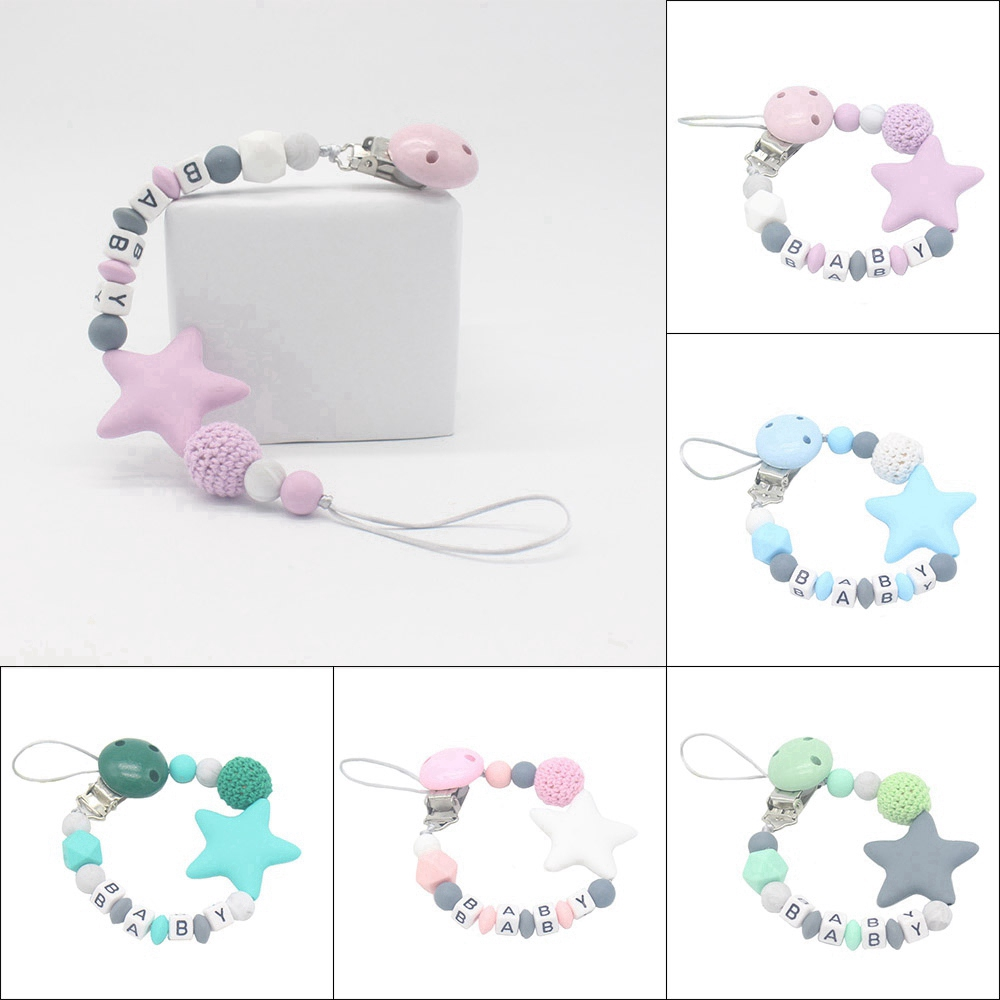 Toy Infant Adjustable Length Soother Baby Teething Pacifier Chain Dummy Clips
