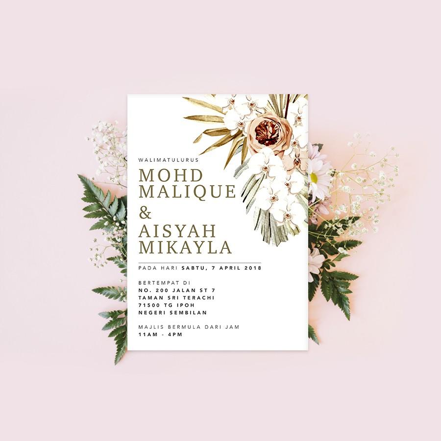 Softcopy Upah Design Kad Kahwin Wedding Invitation Card 03 Graphic Design Services Shopee Malaysia