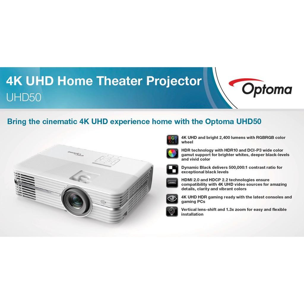 UHD50 OPTOMA 4k HOMETHEATHER