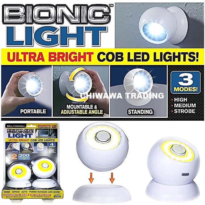 360 ° Magnetic Bionic Light Ultra Bright COB LED Light Security Motion Sensor Camping Lamp Flashlight Torch Lampu Suluh