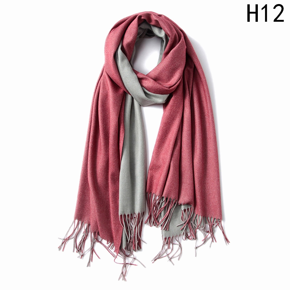 Women Soft Wraps Scarf Unisex Funny Christmas Santa Claus Neck Fleece Knitted Warm Cashmere Silky Pashmina Shawls