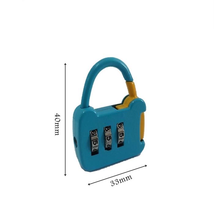 5b7462fbb3ea Korean Cartoon 3 Digit Mini Padlock Password Suitcase Lock/Mangga ...