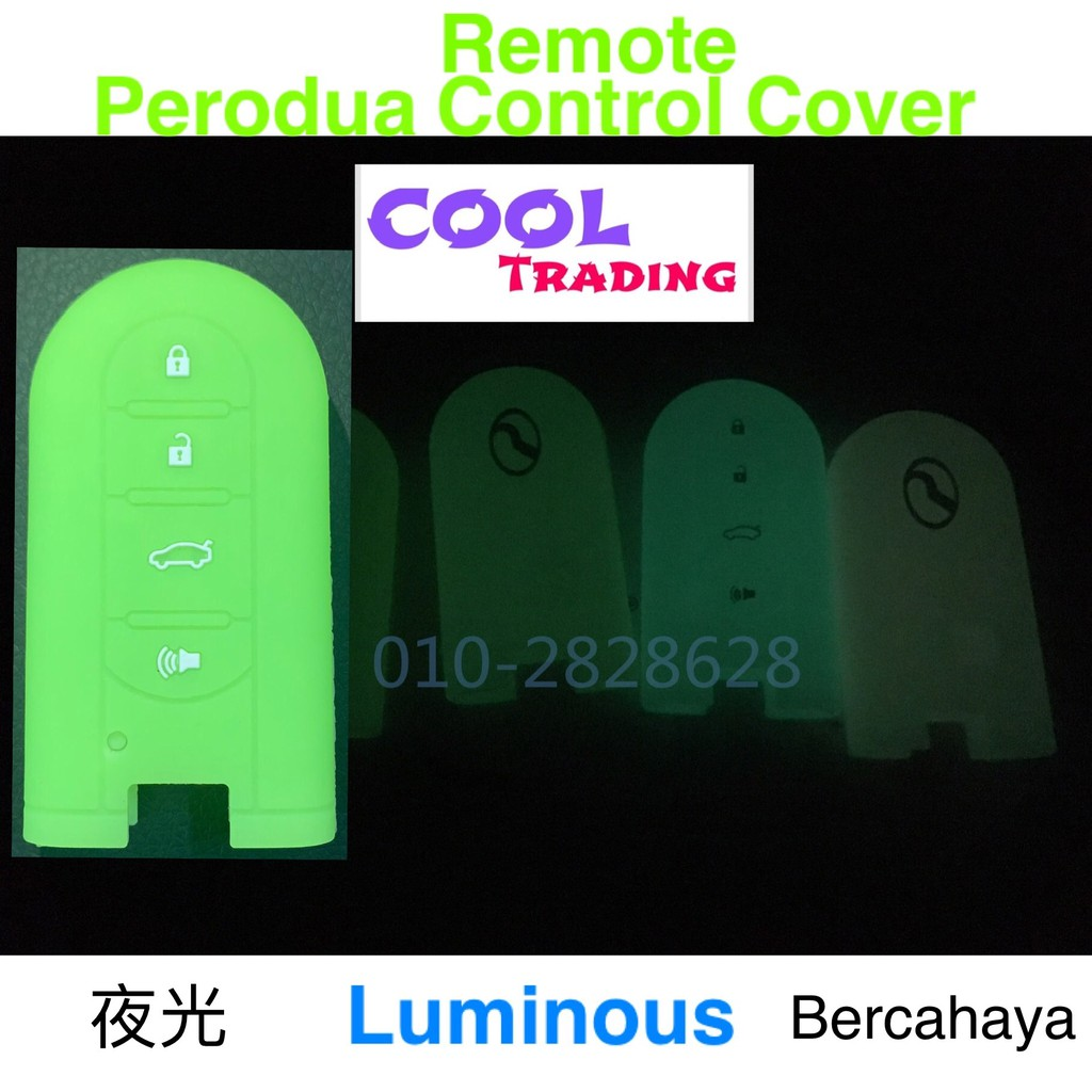 Luminous Cover Silicone Cover PERODUA Bezza New Myvi New Axia SE Remote  Control Car Key Cover Silicone Cover Aruz