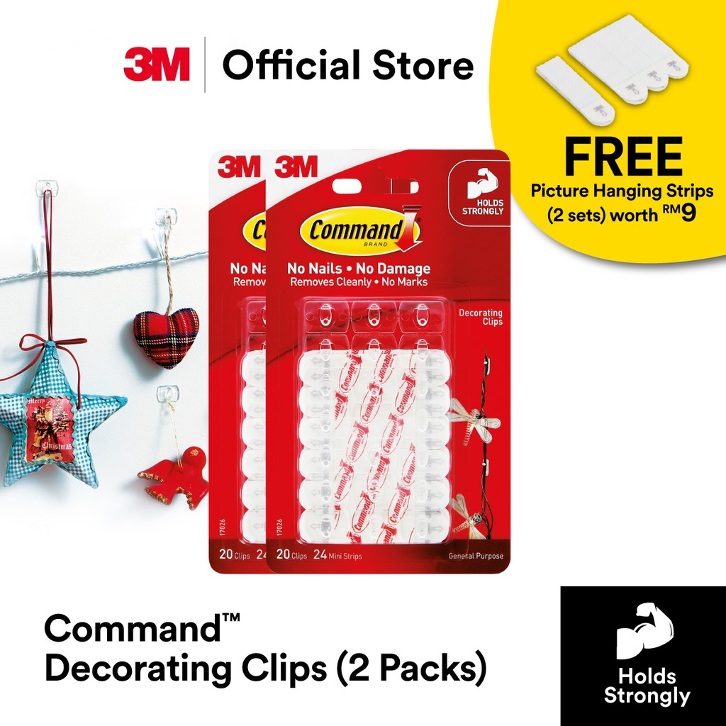Home Storage Solutions 3M Command Decorating Clips Pack of ...