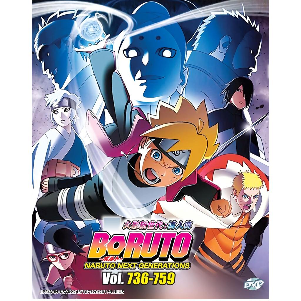 Boruto Naruto Next Generations Vol 736-759 Box 26 Anime DVD