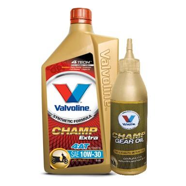 น้ำมันเครื่อง VALVOLINE CHAMP EXTRA 4AT  สำหรับ รถมอเตอร์ไซค์ ออโต
