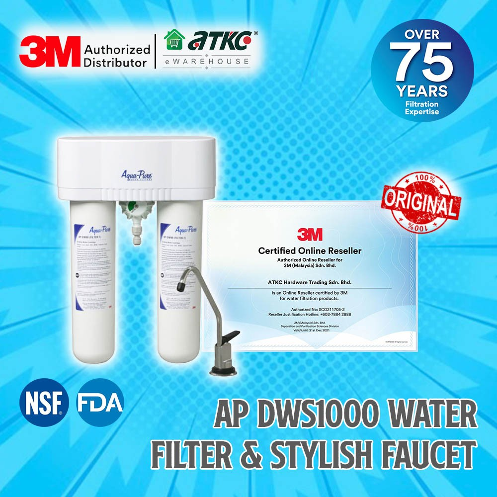 [Ready To Ship] 3M Indoor Water Filter AP DWS1000 with Stylish Faucet