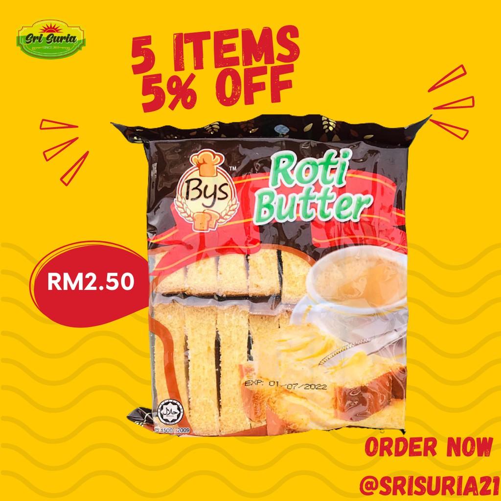 Halal Bys Makanan Harian Roti Butter, 100G Sedap Di Makan Waktu Pagi Dan Petang, Makanan Harian, Harga Murah, Borong