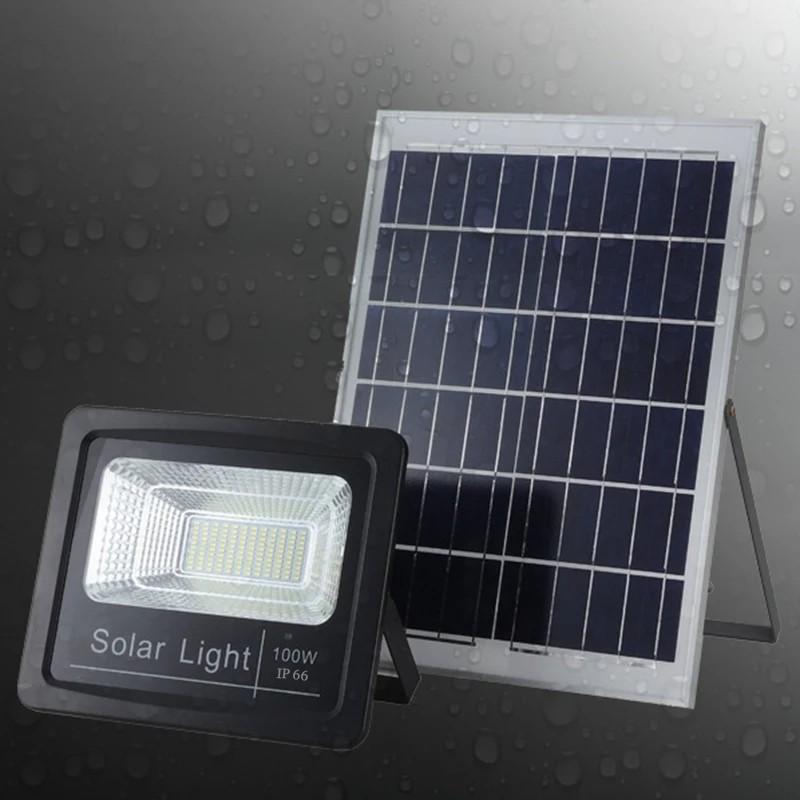 [ READY STOCK ]  Super Bright 100W Garden Solar Lamp Spotlight Waterproof Pelita Lampu Raya Flood Light Jualan Murah Led