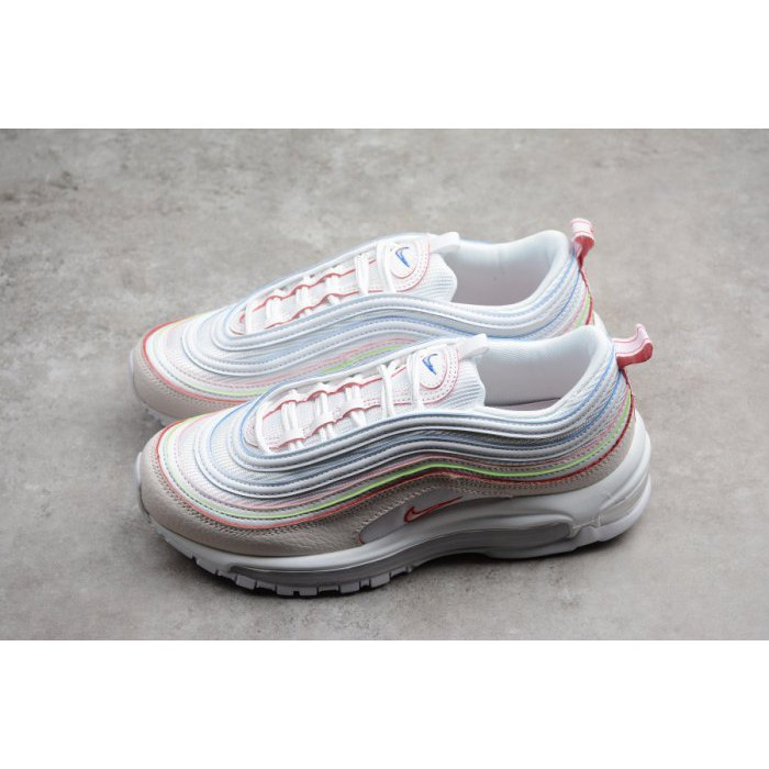 nike air max 97 pink white yellow green candy colorful rainbow shoes