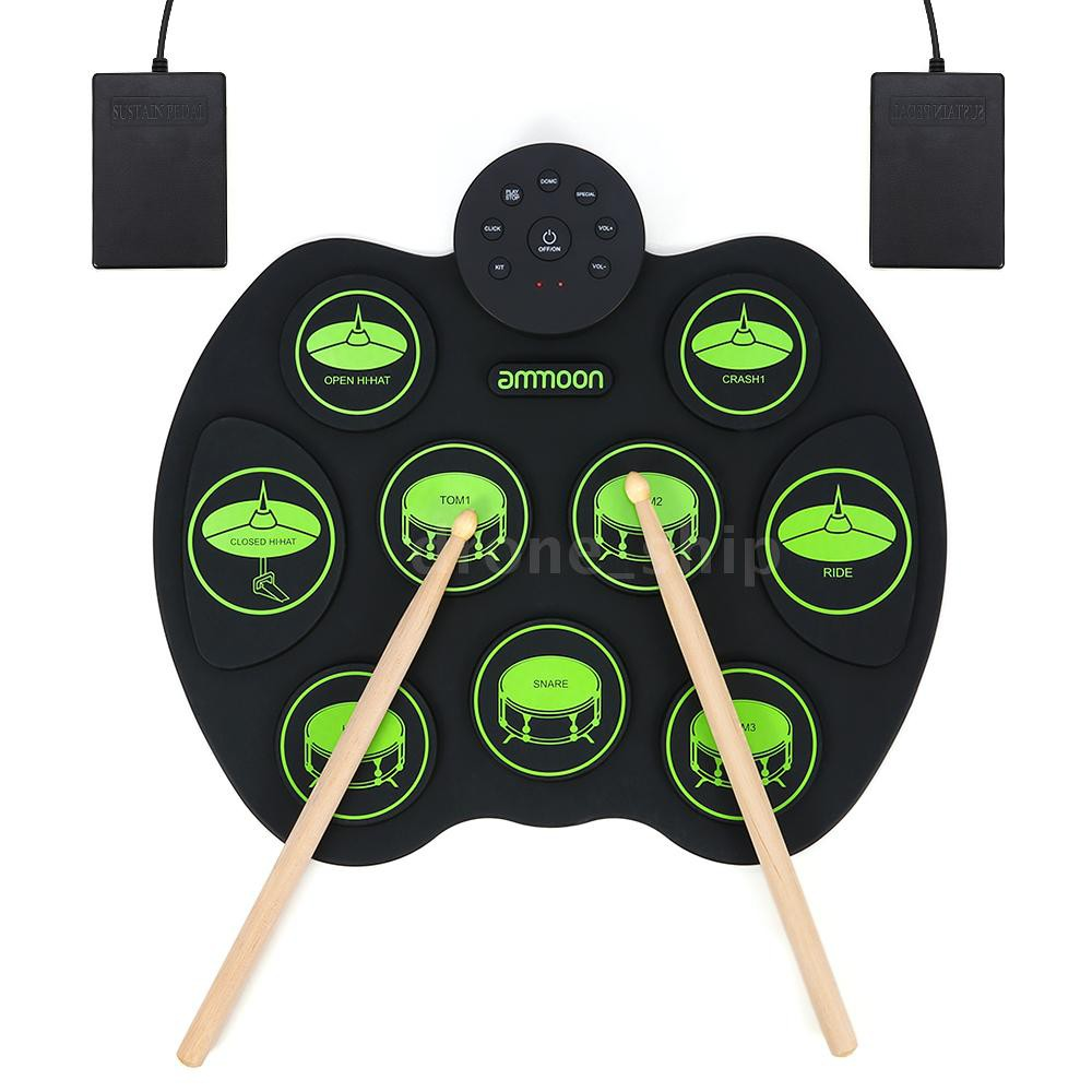 Drum Sets Roll-Up Drum Kit Portable Electronic Drum Set with ...