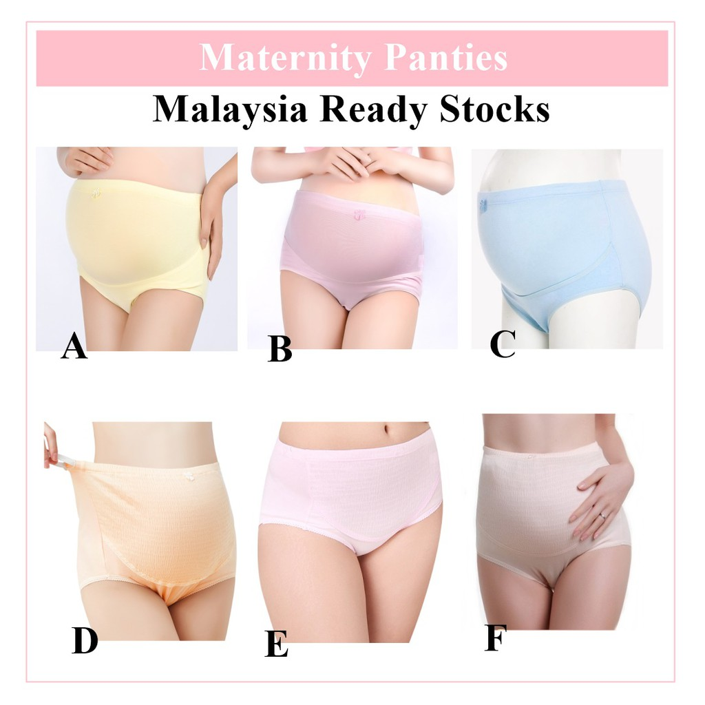 4cafd4d7a7059 Pregnancy Adjustable Maternity Pcs Breathable Cotton 4 Panties Elastic  Underwear | Shopee Malaysia