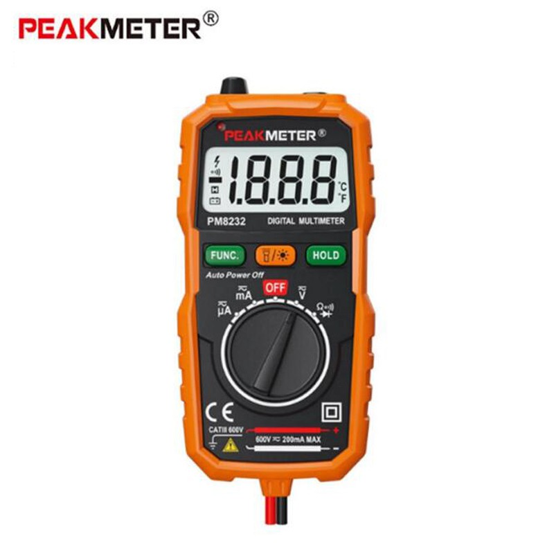 PEAKMETER PM8231 Digital Multimeter Auto DC AC Voltage Resistance NCV Tester   Shopee Malaysia