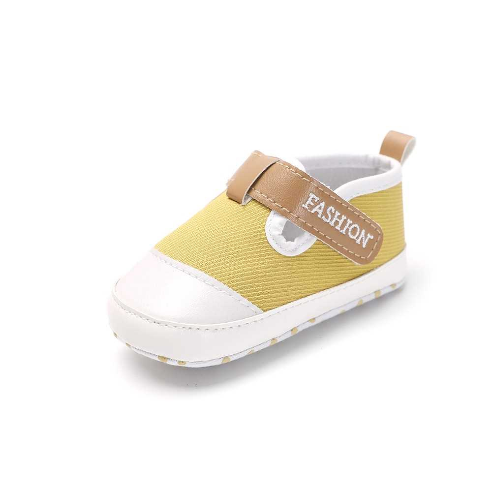 Infant Toddler Baby Casual Shoes Cotton Soft Sole Non-Slip Sneaker Prewalker Yellow 6M (Yellow)