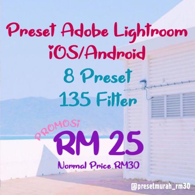 Preset Adobe Lightroom IOS/Android