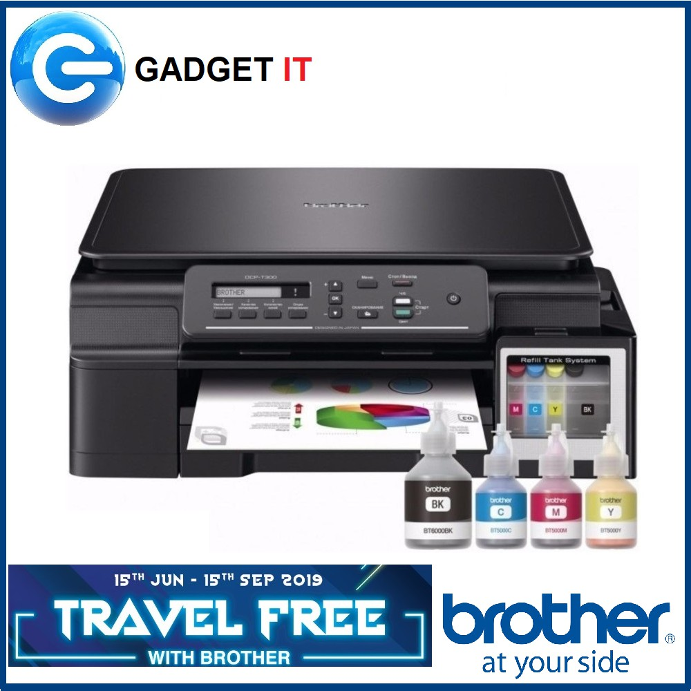 BROTHER DCP-T310 REFILL TANK SYSTEM PRINTER REDEEM online Grab Voucher RM50  of Travel Free with Brother Promo