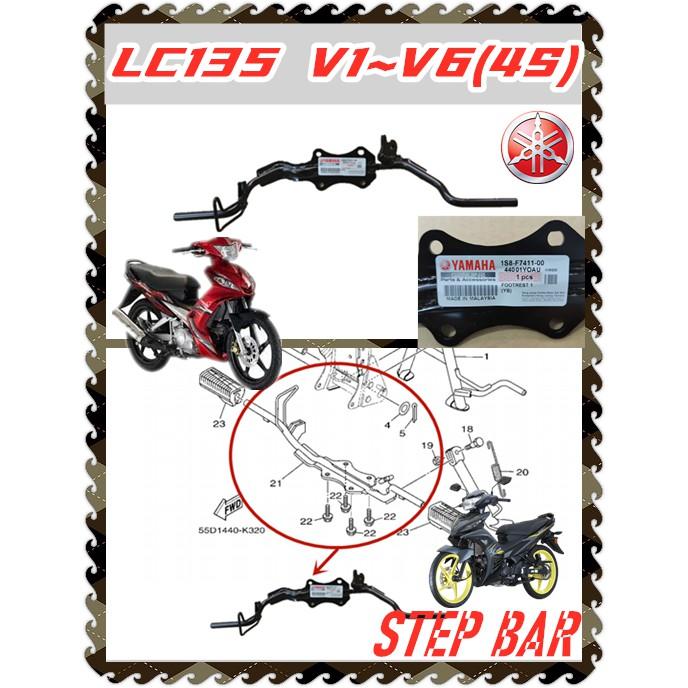100% ORIGINAL HONG LEONG YAMAHA LC135 V1 LC135 V2 ~V6 ( 4 SPEED ) FOOTREST STEP BAR WITHOUT RUBBER PIJAK KASI STAND BAR