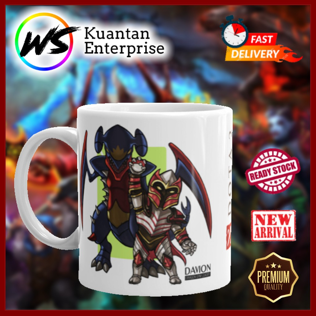 【100% Ready Stock】DOTA MUG HERO DRAGON KNIGHT   CAWAN DOTA 2 HERO DK   OFFICE MUG   COFFEE MUG   PRINTING MUG