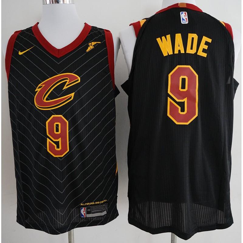 Ready stock 2018 Hot Sale Nike NBA Cleveland Cavaliers Dwyane Wade  9 black  basketball jersey S-XXL  d70c11b91
