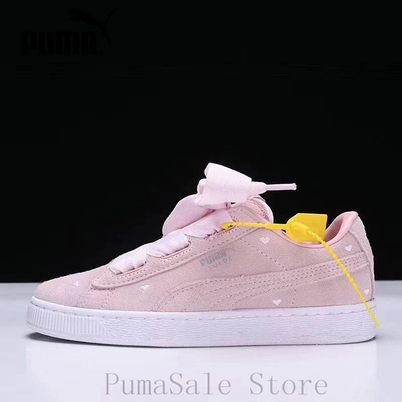 534b5f9d96 2019 PUMA SUEDE Heart Valentine Women's Badminton Shoes Low Top Sport  Sneakers Wn's Bow Shoes EUR36-39