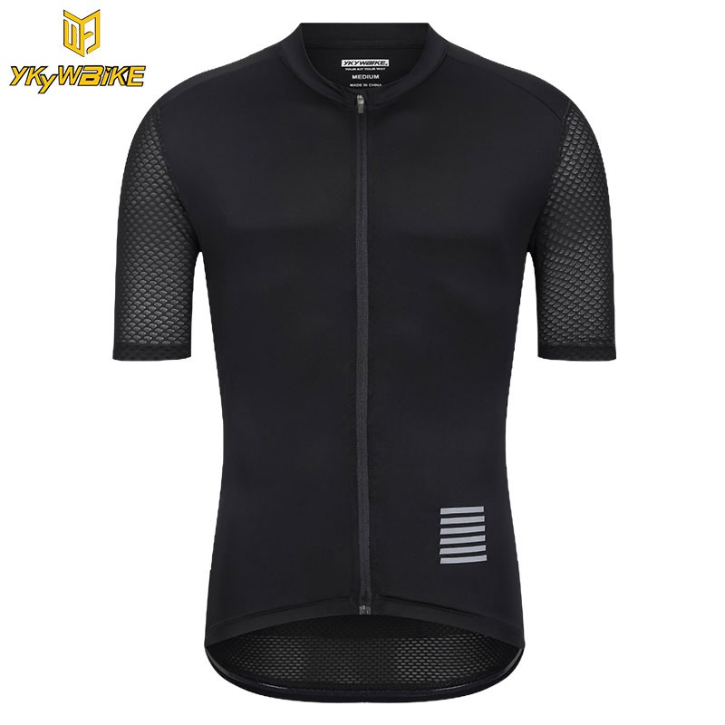 YKYWBIKE pro cycling jersey set Reflective Faded gradient color mtb clothing   040b09635